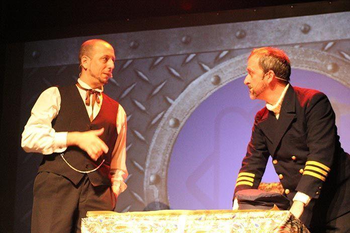 Manolo Barroso y Benjamín Miguel en 20.000 Leguas de Viaje Submarino de Julio Verne