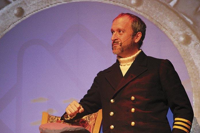 Manuel Barroso como Nemo en 20.000 Leguas de Viaje Submarino de Julio Verne