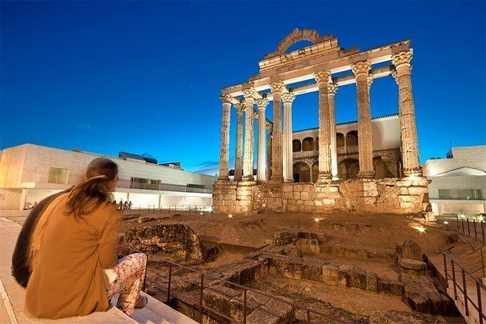 Templo romano de Diana, Mérida, Extremadura