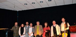 De izquierda a derecha: Teodoro Gracia Jiménez, Irene Figueredo Cerro, José Luis Vega Broncano, Pedro Manuel Fernández Carmona, Juan Manuel Del Pozo Jiménez, Francisca Quintana Vega, Bartolomé Cerro Castillo y Juan Miguel Crespo.