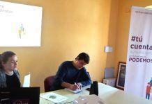 Acto de la Ruta Presupuestaria de Podemos en Montijo