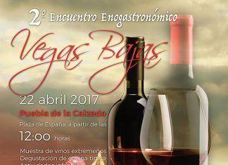 Cartel del 2º Encuentro Enogastronómico Vegas Bajas