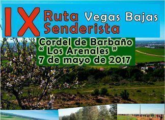 Cartel IX Ruta Senderista Vegas Bajas 2017