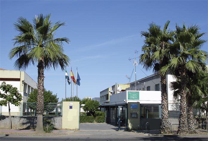 Fachada del IES Extremadura, sede de la Escuela Oficial de Idiomas de Montijo