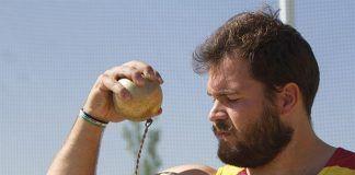 Javier Cienfuegos, lanzador de martillo de Montijo