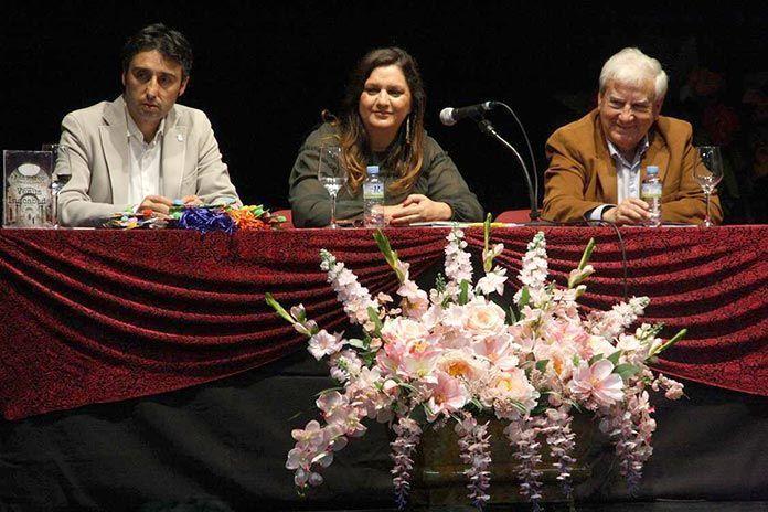 Juna María Delfo, Ana Marco y José Luis Rodríguez en la presentación de las obras de la escritora madrileña