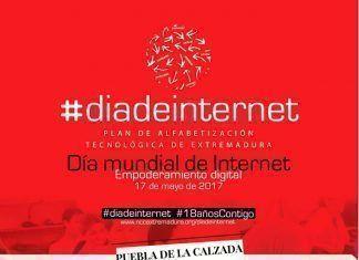 Cartel Día de Internet 2017 en Puebla de la Calzada