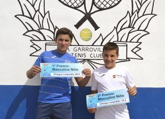 Pablo Rodríguez y Javier Álvarez en el torneo de la Caridad de La Garrovilla