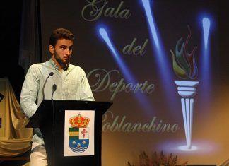 Ricardo Casas en la Gala del Deporte de Puebla de la Calzada - foto Teodoro Gracia