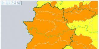 Alerta Naranja por altas temperaturas, Viernes 16 de junio
