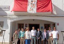Autoridades presentes en la inauguración del Festival Romano Amnis Callis de Barbaño (foto: Diputación de Badajoz)