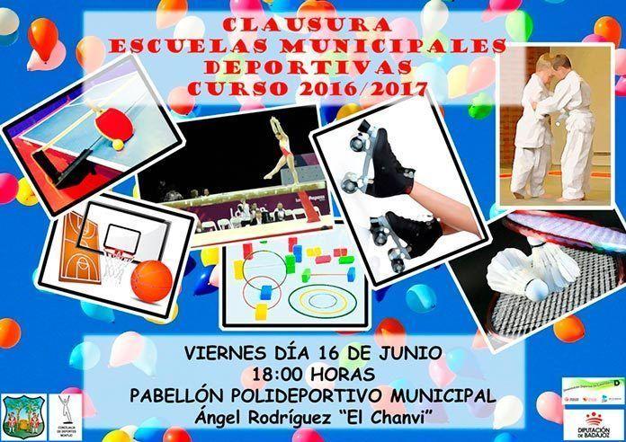 Cartel Clausura de las Escuelas Deportivas Municipales 2017