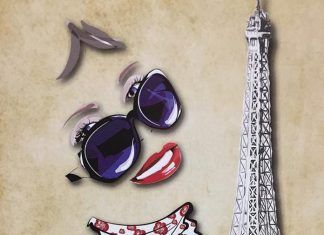 Cartel Paris Mon Amour de la escuela de danza Nuria Lozano