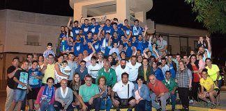 Celebración del ascenso de la EF Peña El Valle a Primera Regional en el Pozo del Valle, Montijo