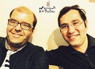 El pianista montijano Pedro Monty junto al violinista armenio Nersés Avankimyan, Músicos sin Fronteras