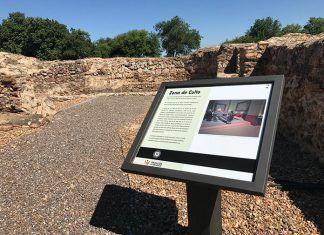 Nueva señalitica villa romana de Torreáguila, Barbaño