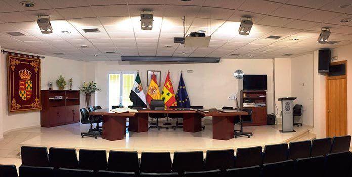 Salón de plenos del Ayuntamiento de Lobón