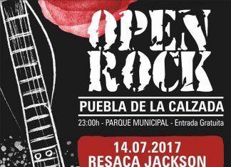 Cartel Open Rock en Puebla de la Calzada