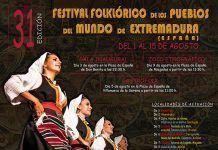 Cartel del Festival Folklórico de los Pueblos del Mundo de Extremadura 2017