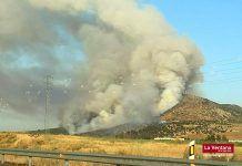 incendio San Serván: Incendio forestal en la sierra de San Serván, en Arroyo de San Serván (Badajoz)
