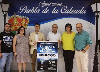 Presentación de la Noche Blanca Deportiva de Puebla de la Calzada