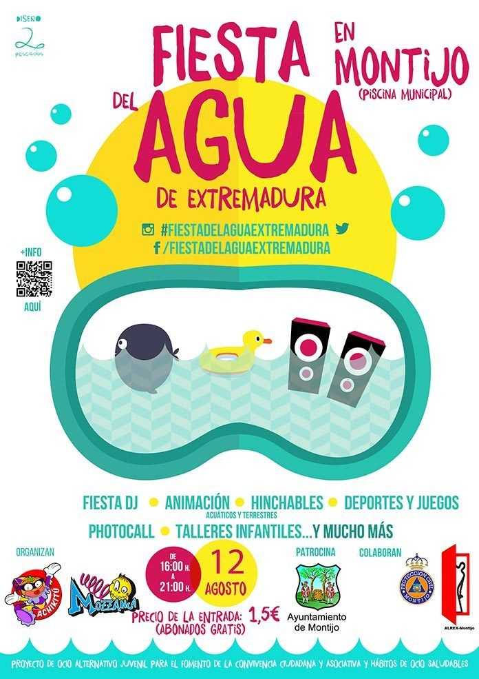 Cartel II Fiesta del Agua de Extremadura 2017 en Montijo