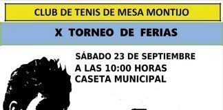 Cartel X Torneo de Tenis de Mesa Ferias CTM Montijo