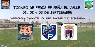 Cartel del Torneo de Feria 2017 de la EF Peña El Valle