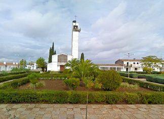 Plaza de España de Lácara, pedanía de Montijo (Badajoz)