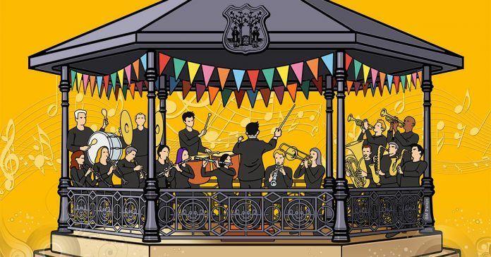 Quiosco-de-Música,-ilustración-del-diseñador-Blas-M.-Parejo-para-la-Feria-de-Montijo-2017