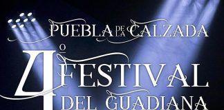 Cartel del IV Concurso de Coplas del Festival del Guadiana en Puebla de la Calzada