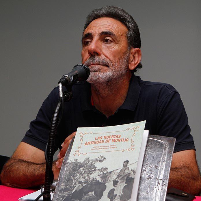 José Manuel Guerrero, prologista del libro Las antiguas huertas de Montijo