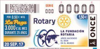 Sorteo Cupón ONCE Fundación Rotaria