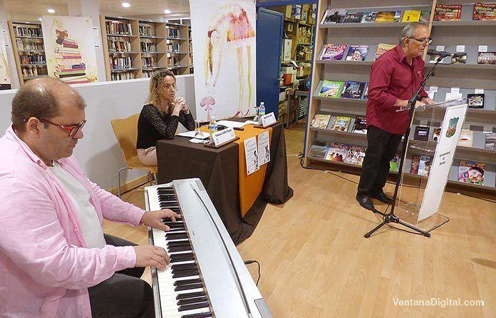 Recital para la Iguadad en la Bibioteca Municipal de Montijo, con Vanessa Cordero, Rafa María Cañete y Pedro Monty