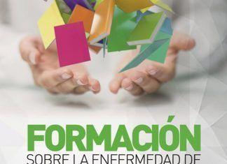 Cartel de formacion sobre la enfermedad de alzheimer en zonas rurales