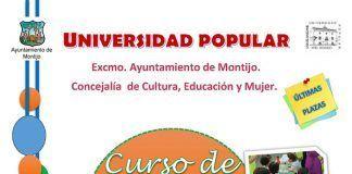 Cartel del curso de animador socio-cultural