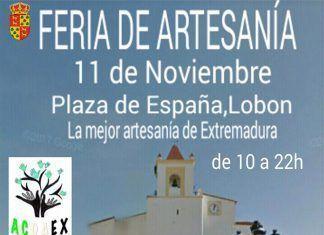 Cartel de la Feria de artesanía en Lobón