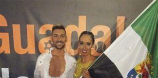 Jesús y Sandra en la Copa Promoción de la Dance Sport Cup celebrada en Guadalajara