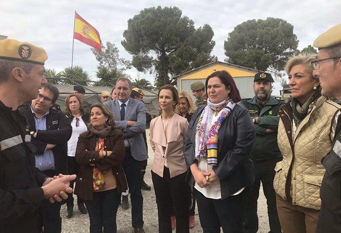 Visita de autoridades al Puesto de Mando Avanzado instalado en La Garrovilla (foto: Junta de Extremadura)