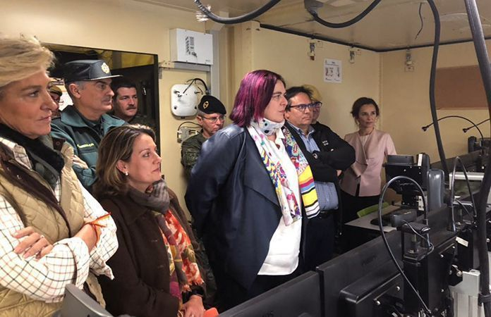 Visita de autoridades al Puesto de Mando Avanzado (foto: 112)