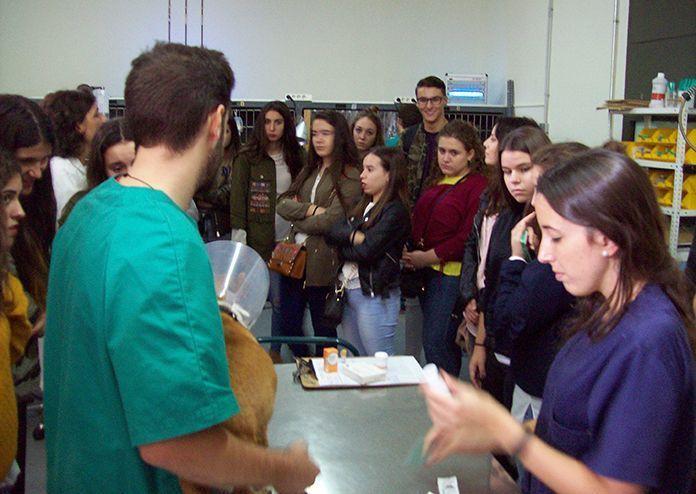Alumnos del IES María Josefa Baraínca en la Facultad de Veterianaria de Cáceres