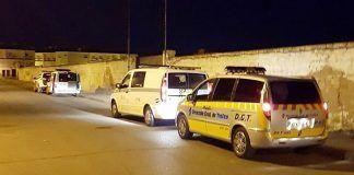 Control policial en Montijo contra el consumo de alcohol y drogas al volante