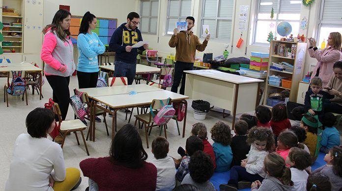 Alumnos del curso de Animador Sociocultural puso en marcha diversas dinámicas con tres grupos de alumnos de Infantil del CEIP Padre Manjón