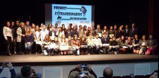 Entrega de los Premios Extraordinarios de Educación en Puebla de la Calzada