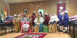 Los Reyes Magos en el Salón de Plenos del Ayuntamiento de Montijo