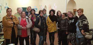 Participantes en los talleres de la Asociación de Inmigrantes Vegas Bajas y la Asociación de Mujeres Malvaluna eb Montijo