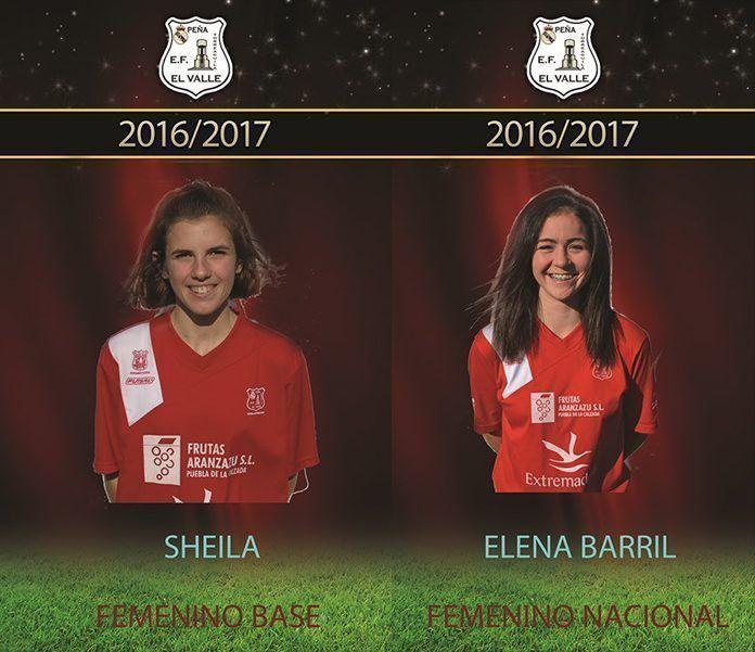 Sheila Cerrato y Elena Barril, de la EF Peña El Valle