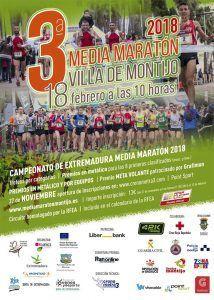 Cartel de la III Media Maratón Villa de Montijo