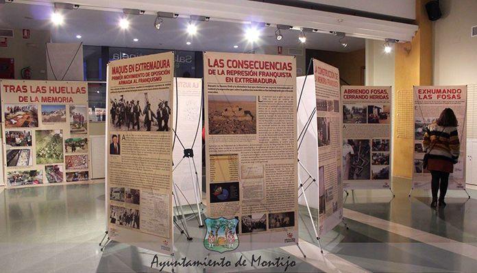 Exposición Tras las huellas de la memoria en Extremadura en Montijo