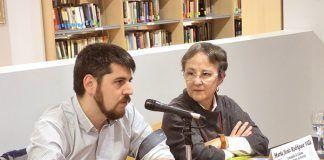 Rafael García Sanz y María Jesús Rodríguez Villa en la presentación del libro Regadío de Sueños